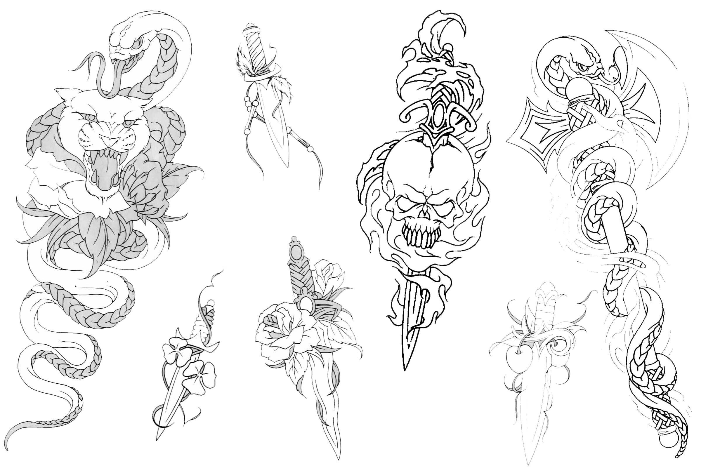 Sets «Tattoo Pictures, Tattoo Design Art, Flash Tattoo, Body Tattoo - Free Printable Flash Tattoo