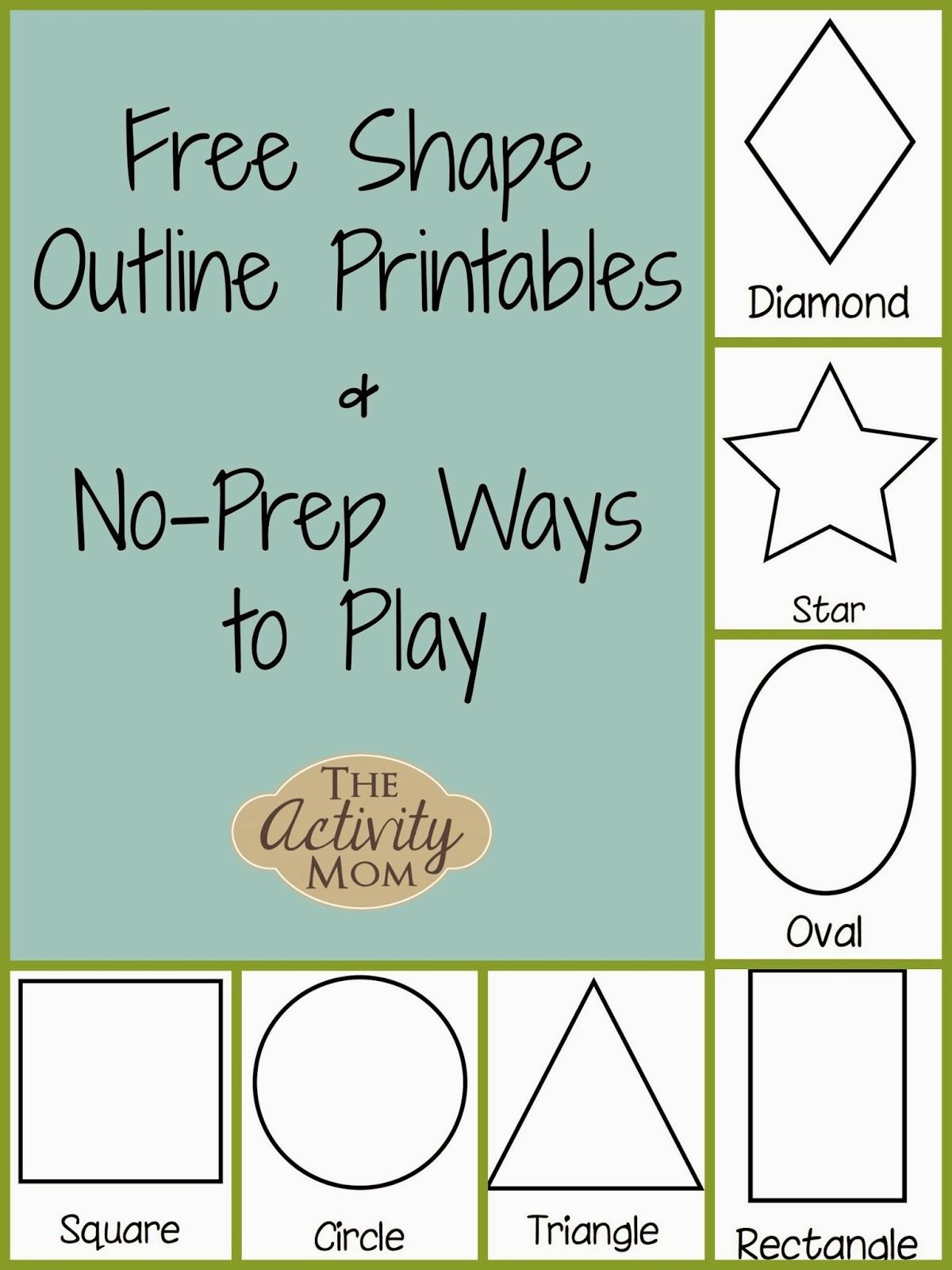 Shape Activities For Toddlers (Printable) | Kid Blogger Network - Free Printable Shapes