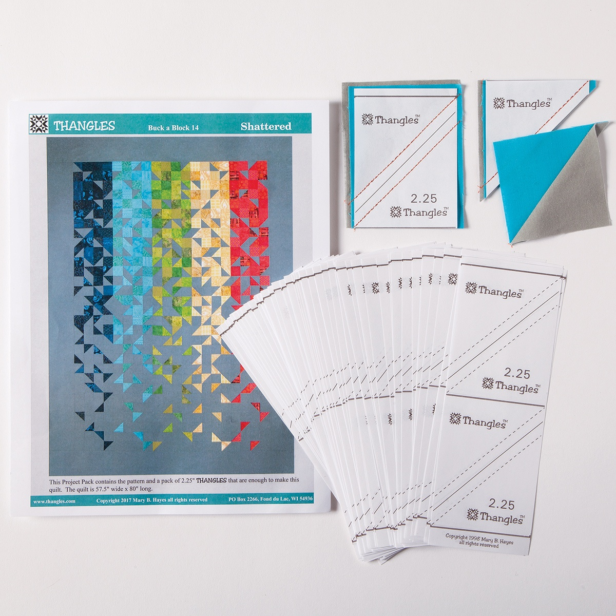 Shattered Quilt Pattern And Thangles |Quilting Best Sellers |Nancy's - Printable Thangles Free