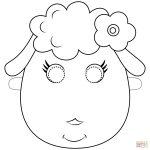 Sheep Mask Coloring Page | Free Printable Coloring Pages   Free Printable Sheep Mask