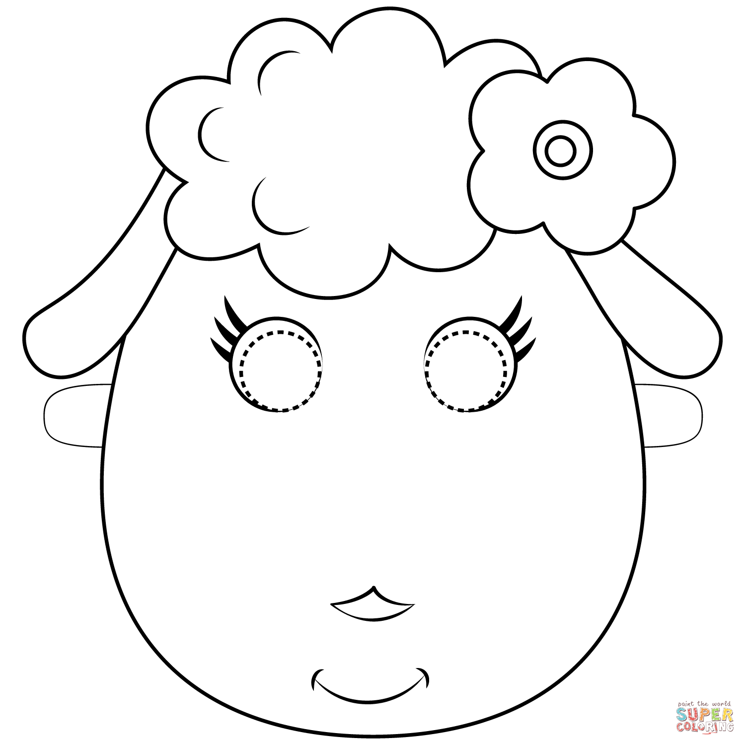 Sheep Mask Coloring Page | Free Printable Coloring Pages - Free Printable Sheep Mask