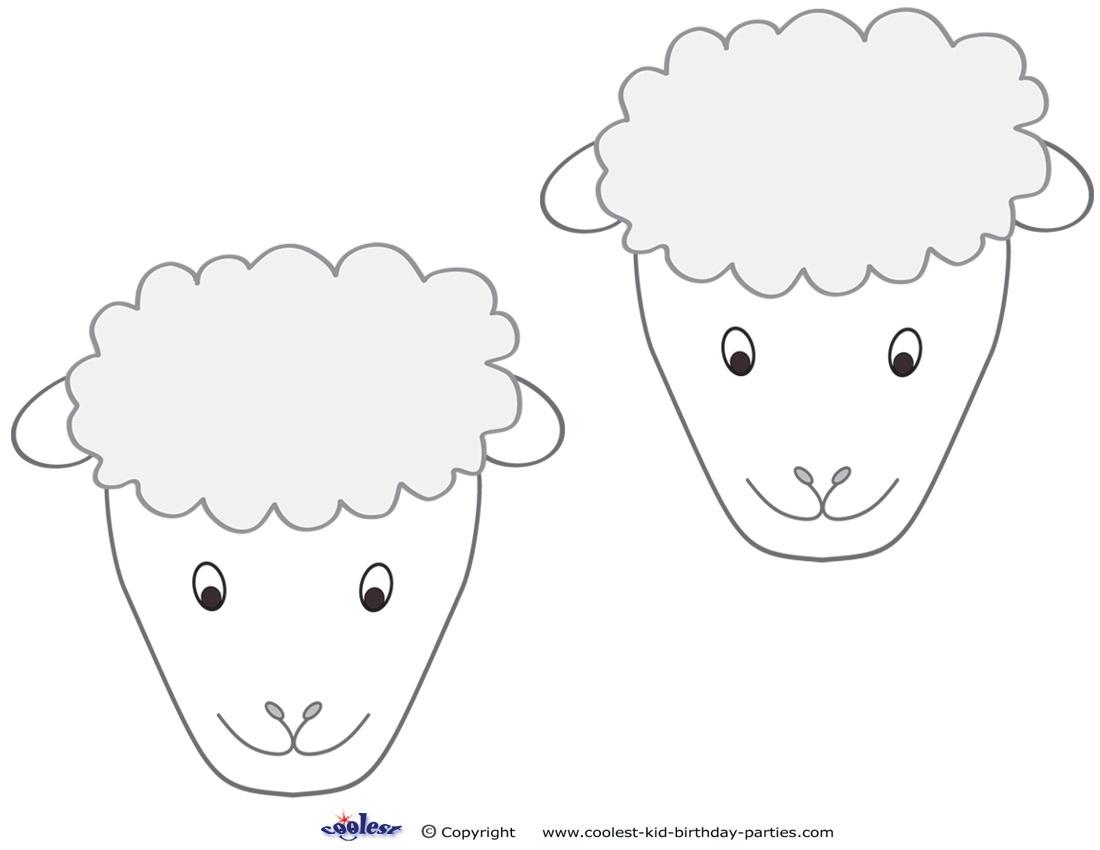 Sheep Mask Template - Kaza.psstech.co - Free Printable Sheep Mask