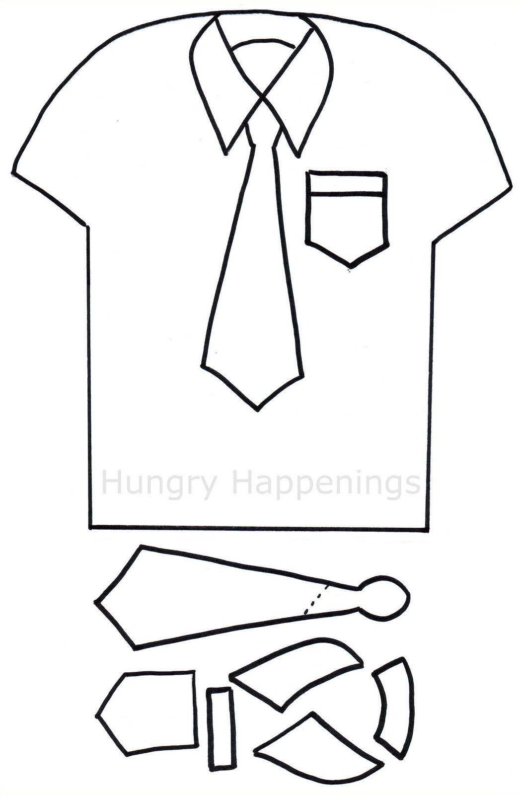 Shirt And Tie Pizza | Craft Ideas | Tie Template, Templates - Free Printable Tie Template