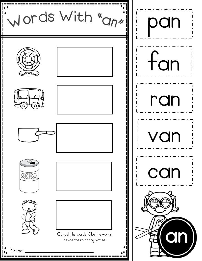 Short A Phonics Practice Printables For Word Families (At, An, Ap - Hooked On Phonics Free Printable Worksheets