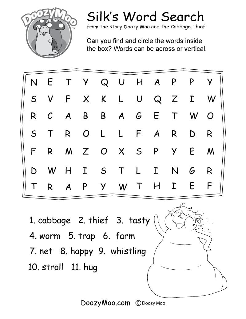 Silk's Word Search Worksheet (Free Printable) - Free Printable Worm Worksheets