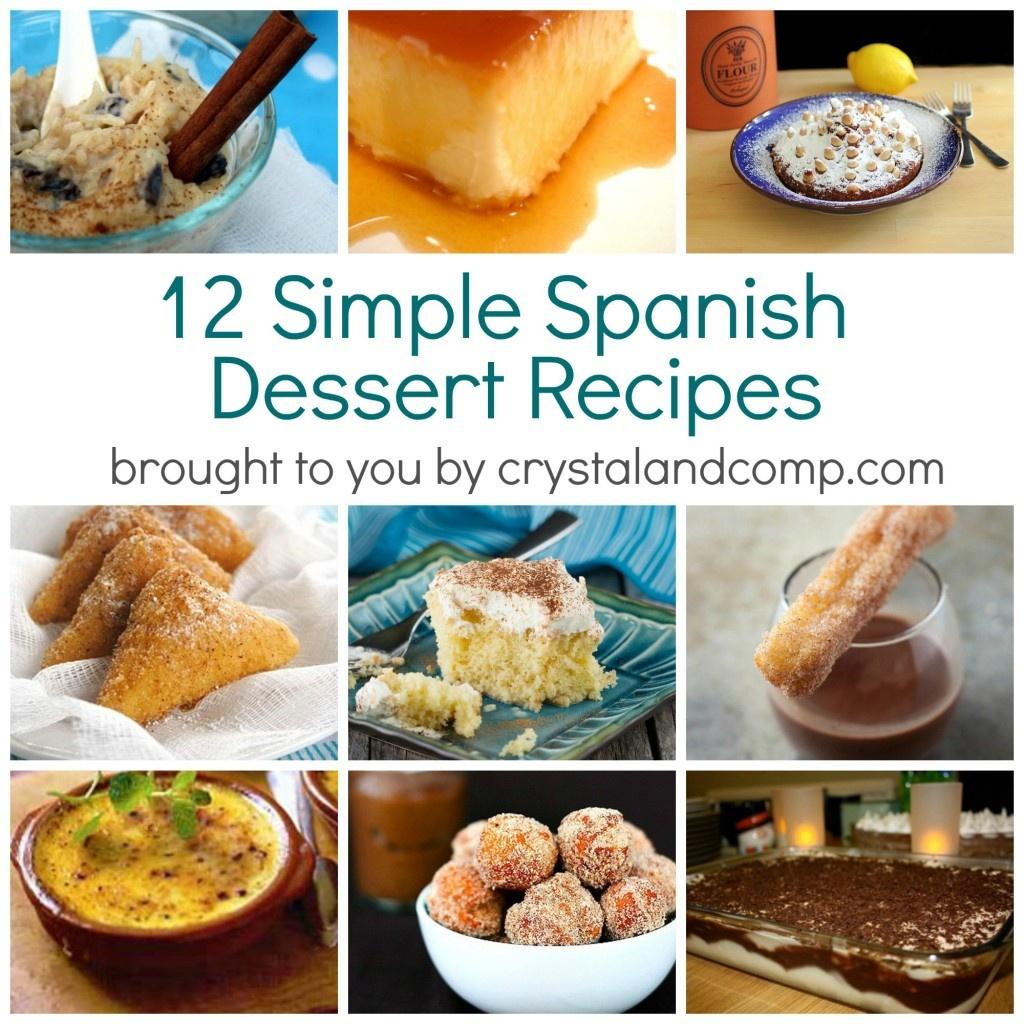 Simple Spanish Dessert Recipes - Free Printable Dessert Recipes