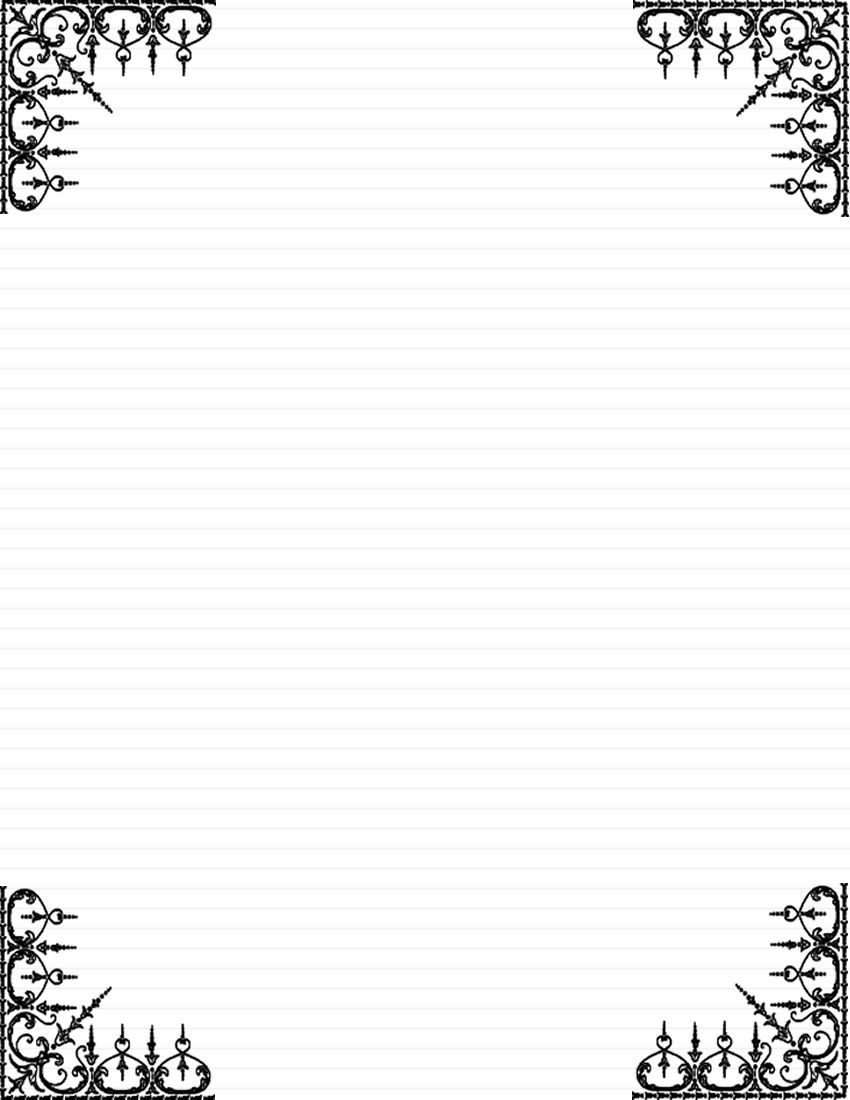 Simply Indulge In Elegance: Day 5 Write A Note Card Or Short - Free Printable Elegant Stationery Templates