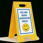 Smile You're On Camera Signs   You Are Being Video Taped   Free Printable Smile Your On Camera Sign