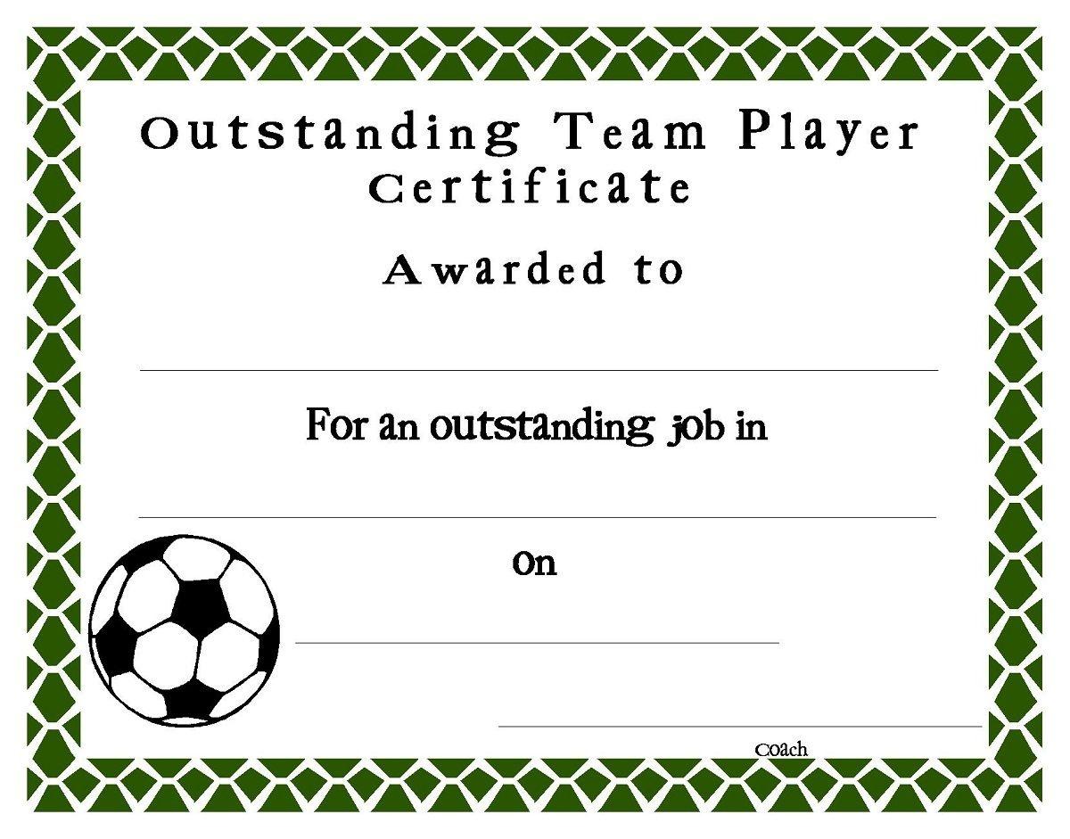 Soccer Award Certificates4 | Soccer | Award Certificates - Sports Certificate Templates Free Printable
