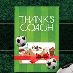 Soccer Coach Gift Thank You Card - Free Printable Download - Free Printable Soccer Thank You Cards
