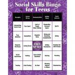 Social Skills|Characteristics|Communication|Teens|Bingo Game   Free Printable Self Esteem Bingo