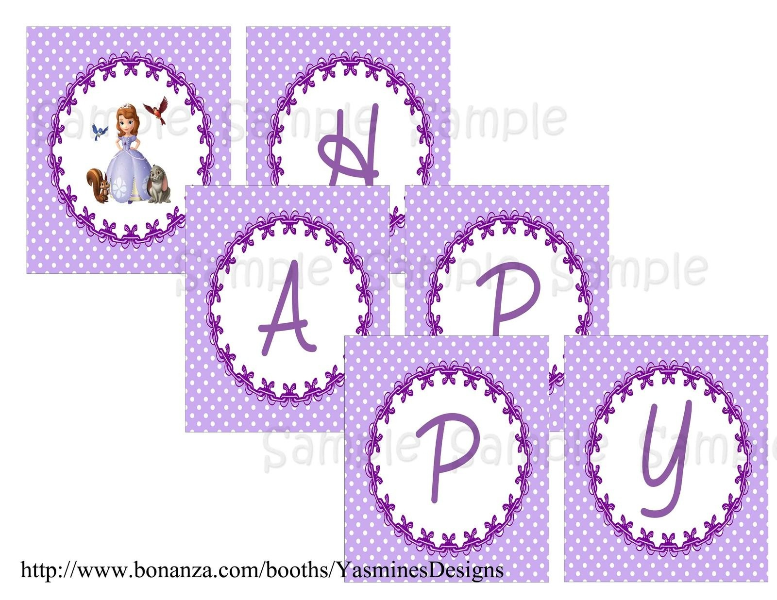 Sofia+The+First+Birthday+Banner+Printable+Free | Sofia In 2019 - Sofia The First Cupcake Toppers Free Printable