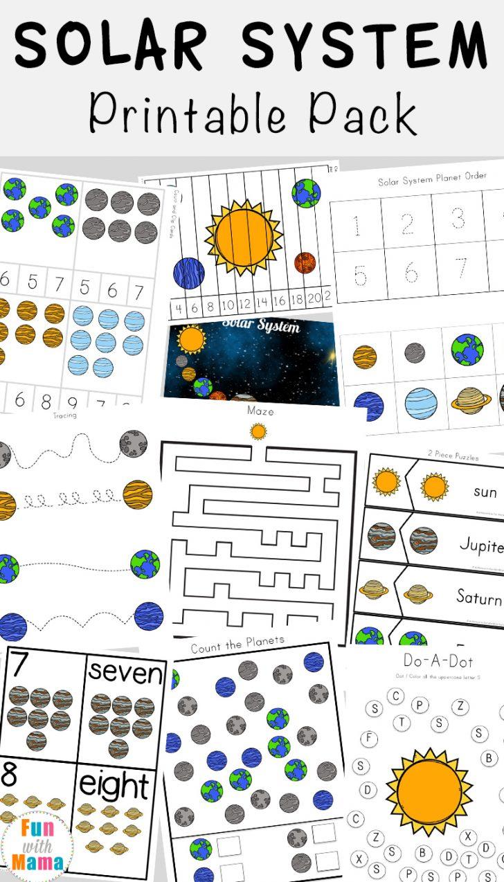 Solar System Charts Free Printable
