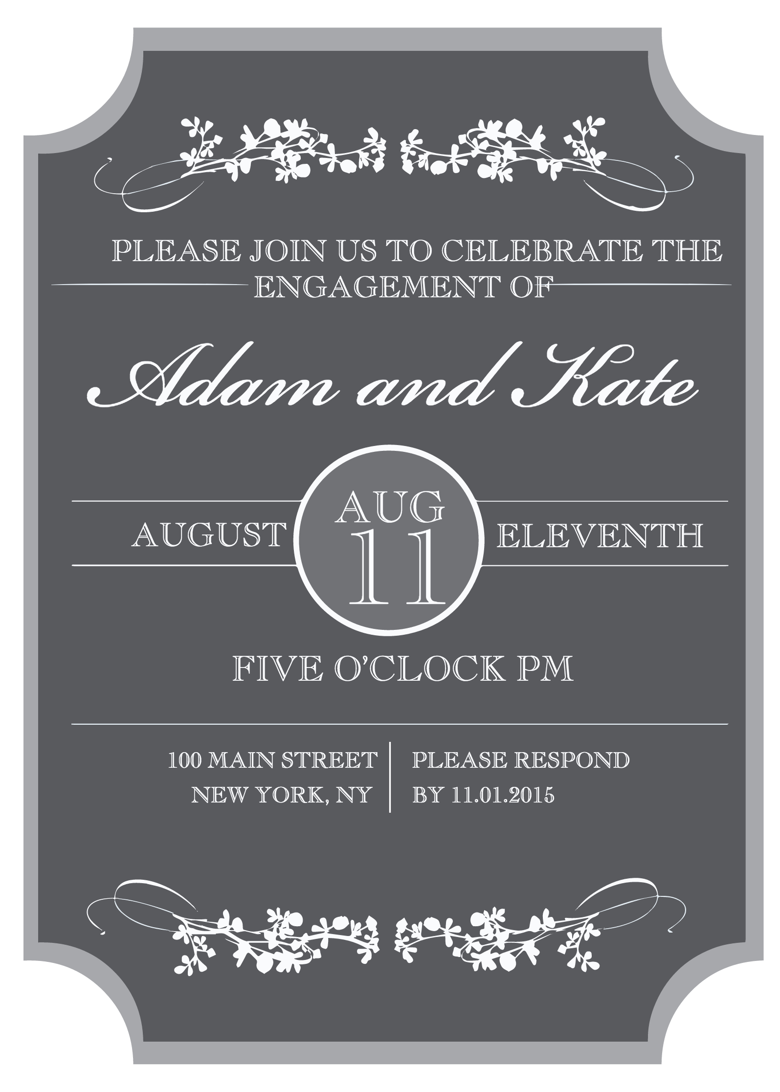 Sophisticated Engagement Party Free Printable Invitation - Free Printable Engagement Invitations