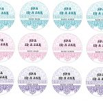 """Spa In A Jar"""" Small Labels 