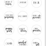 Spice Jar Labels Printable   Tutlin.psstech.co   Free Printable Spice Labels