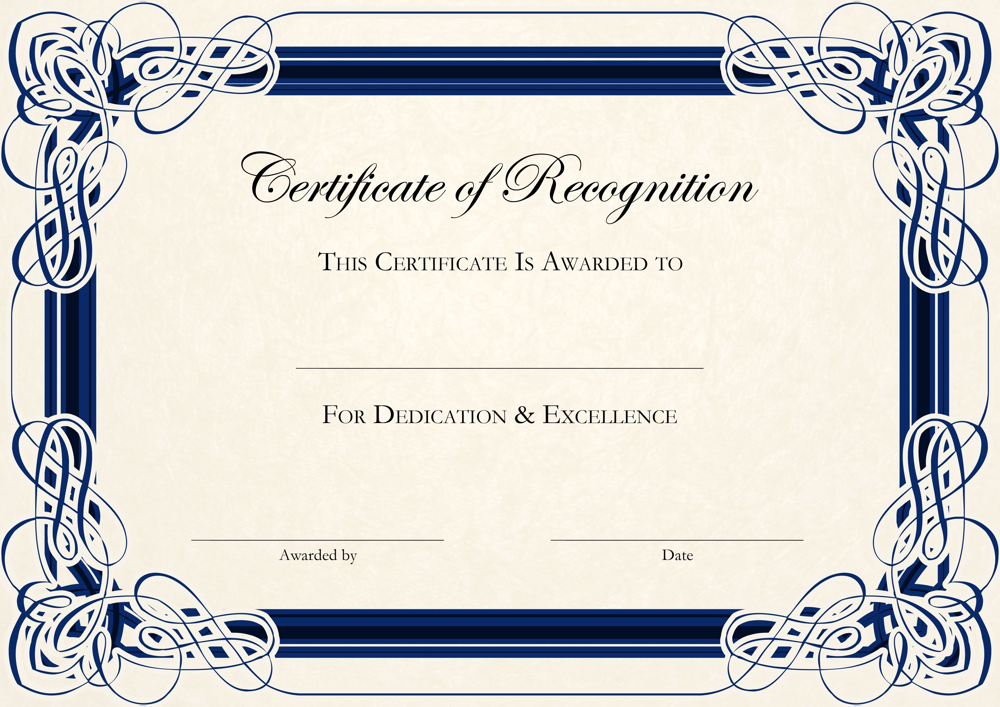 Sports Cetificate | Certificate Of Recognition A4 Thumbnail - Free Printable Certificate Templates