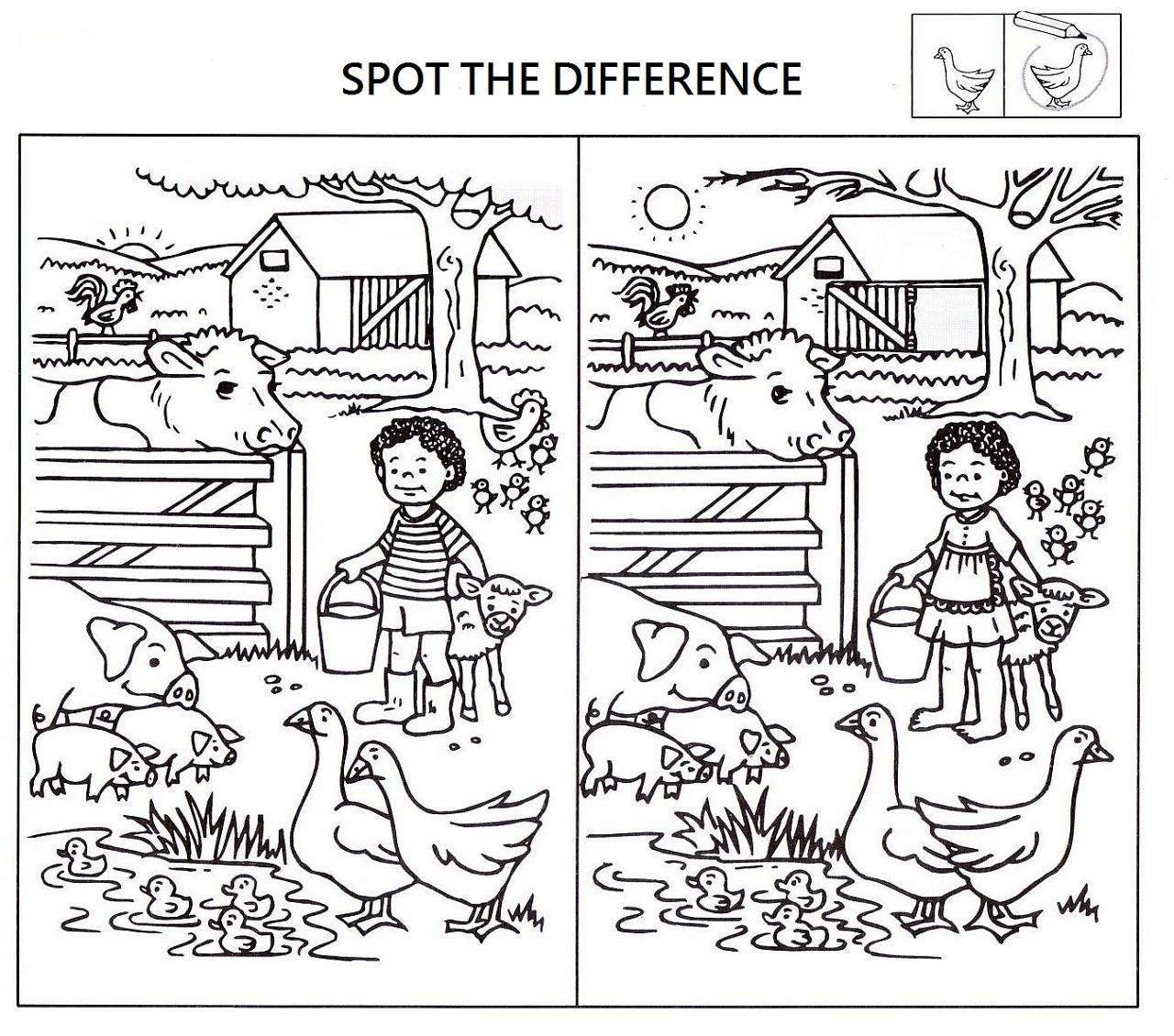 Spot The Difference Worksheets For Kids | Kids Worksheets Printable - Free Printable Spot The Difference Worksheets