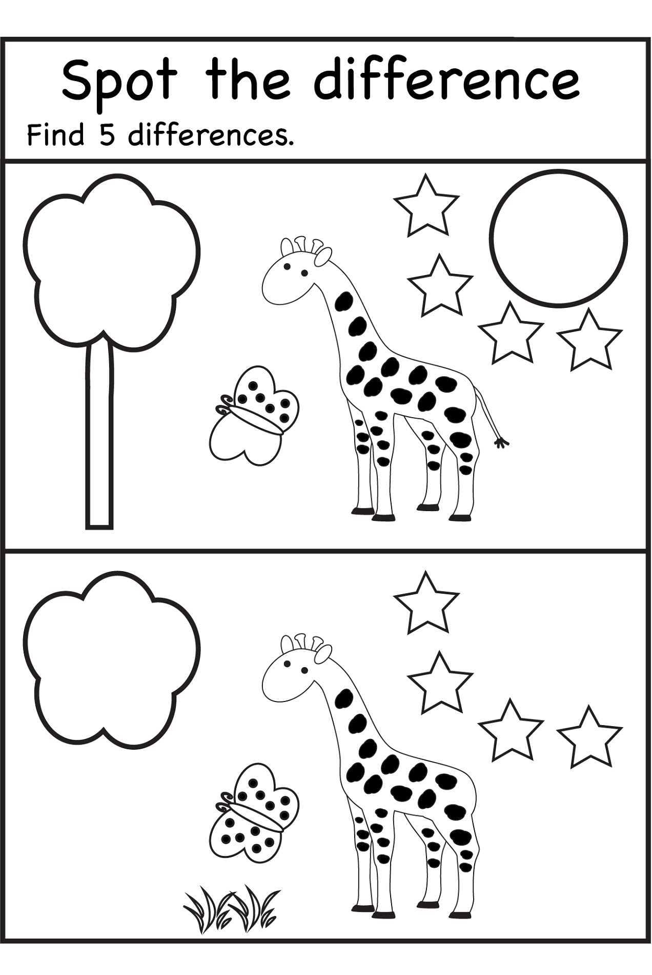 Spot The Difference Worksheets | Spot The Difference Printable - Free Printable Spot The Difference Worksheets