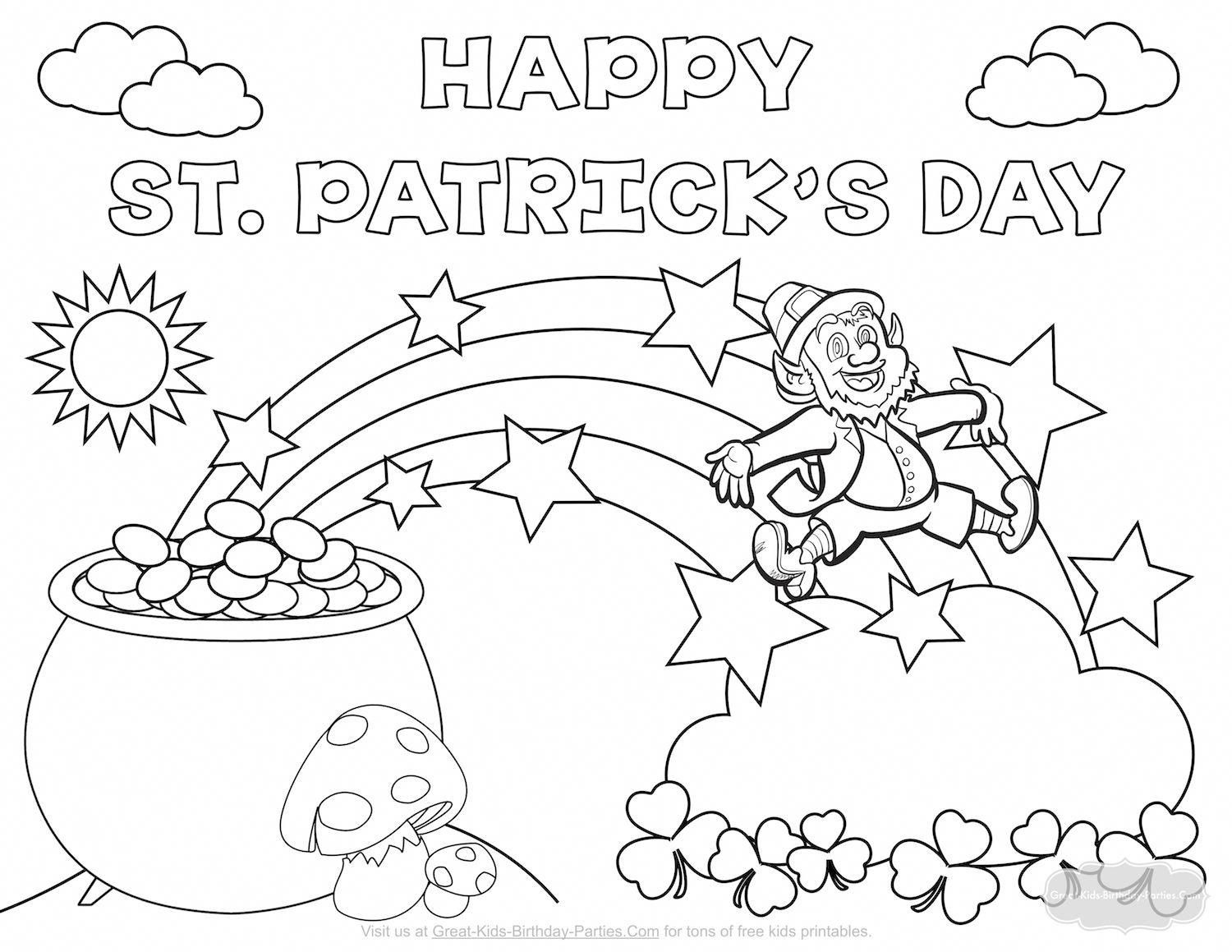 St. Patrick's Day Coloring Page #stpatricksdaycrafts | St.patricks - Free Printable St Patrick Day Coloring Pages