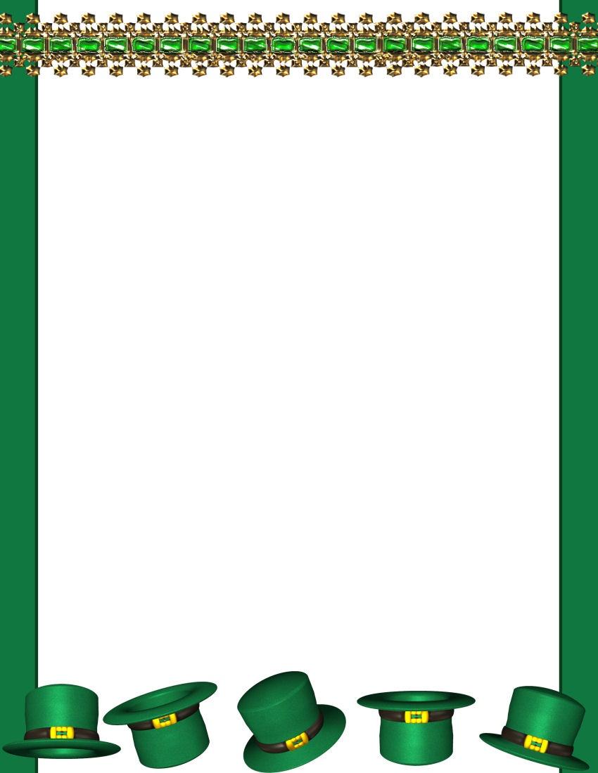 St Patrick's Day Stationery Tempate Page 1 - Free Printable St Patricks Day Stationery
