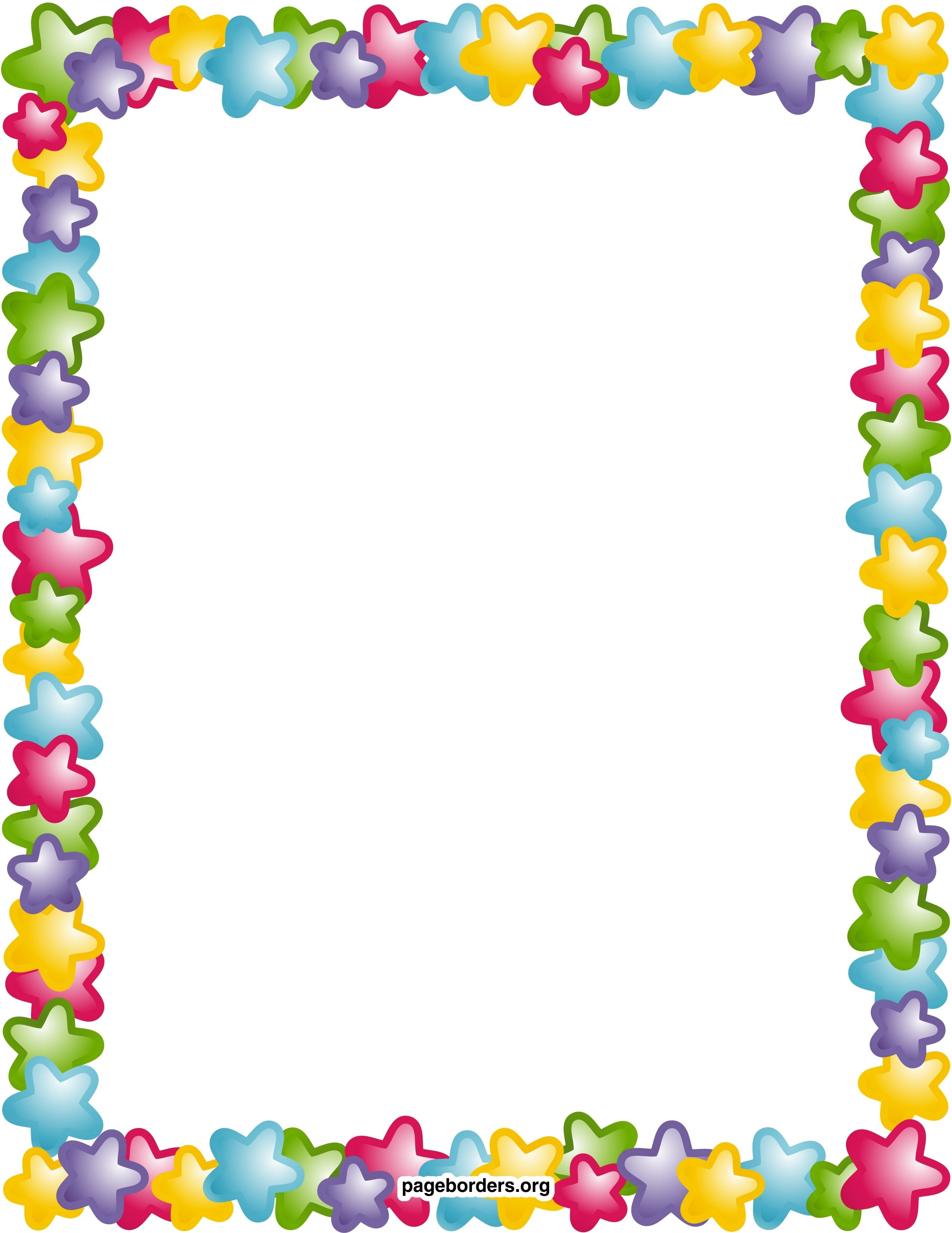 Star Border Clip Art Clipart Panda Free Clipart Images | Printable - Free Printable Page Borders