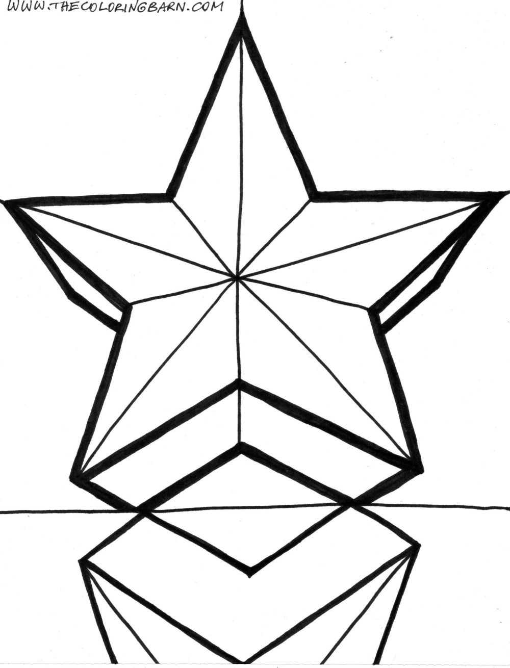Star Color Sheet | Free Coloring Pages On Masivy World - Coloring Home - Free Printable Christmas Star Coloring Pages