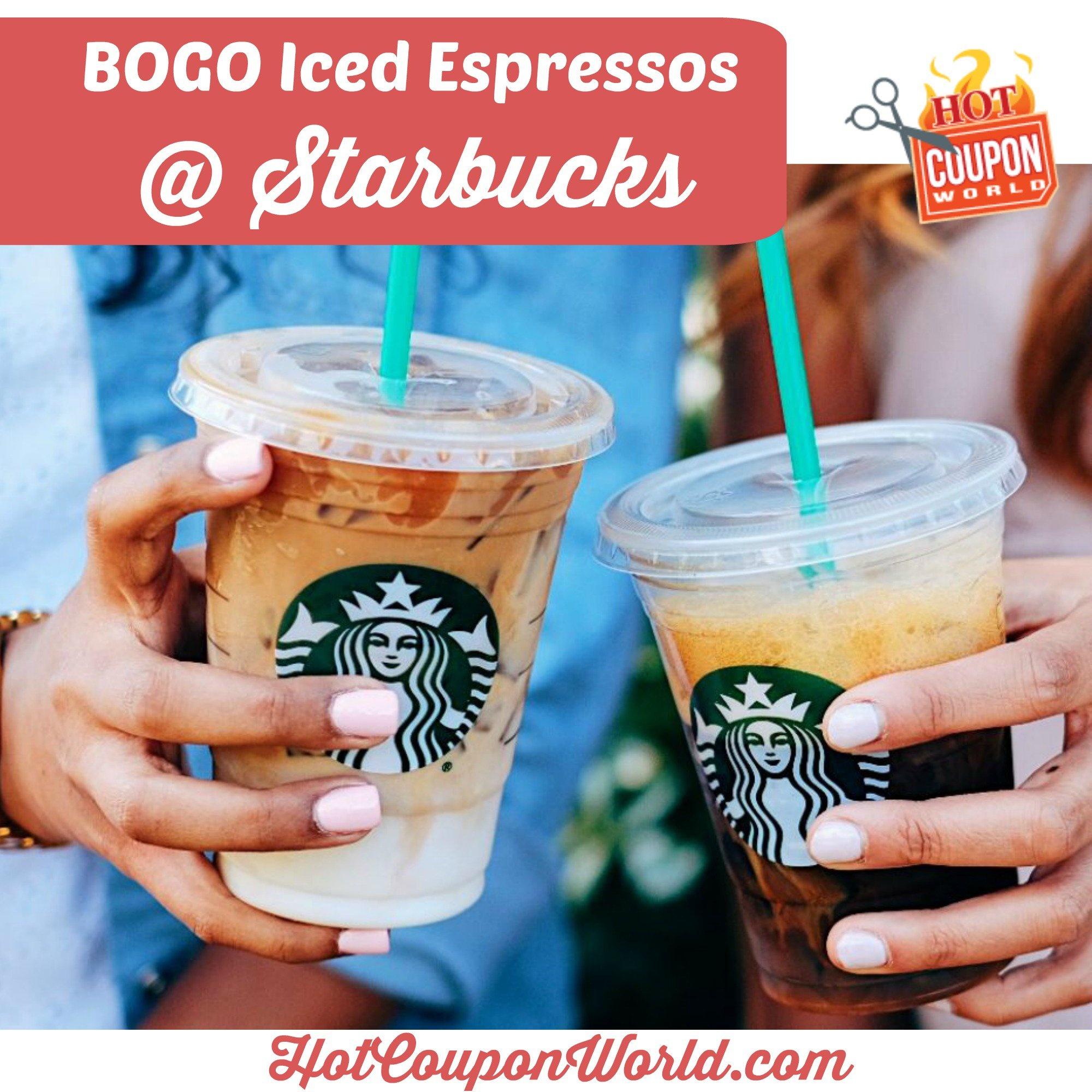 Starbucks Grande Iced Espresso: Bogo Free Event | Hot Coupon World - Free Starbucks Coupon Printable