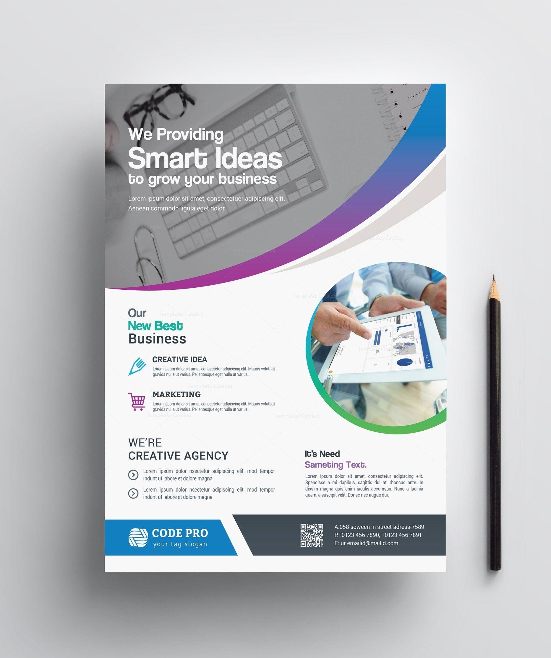 Stylish Printable Business Flyer 002412   Flyers   Corporate - Business Flyer Templates Free Printable