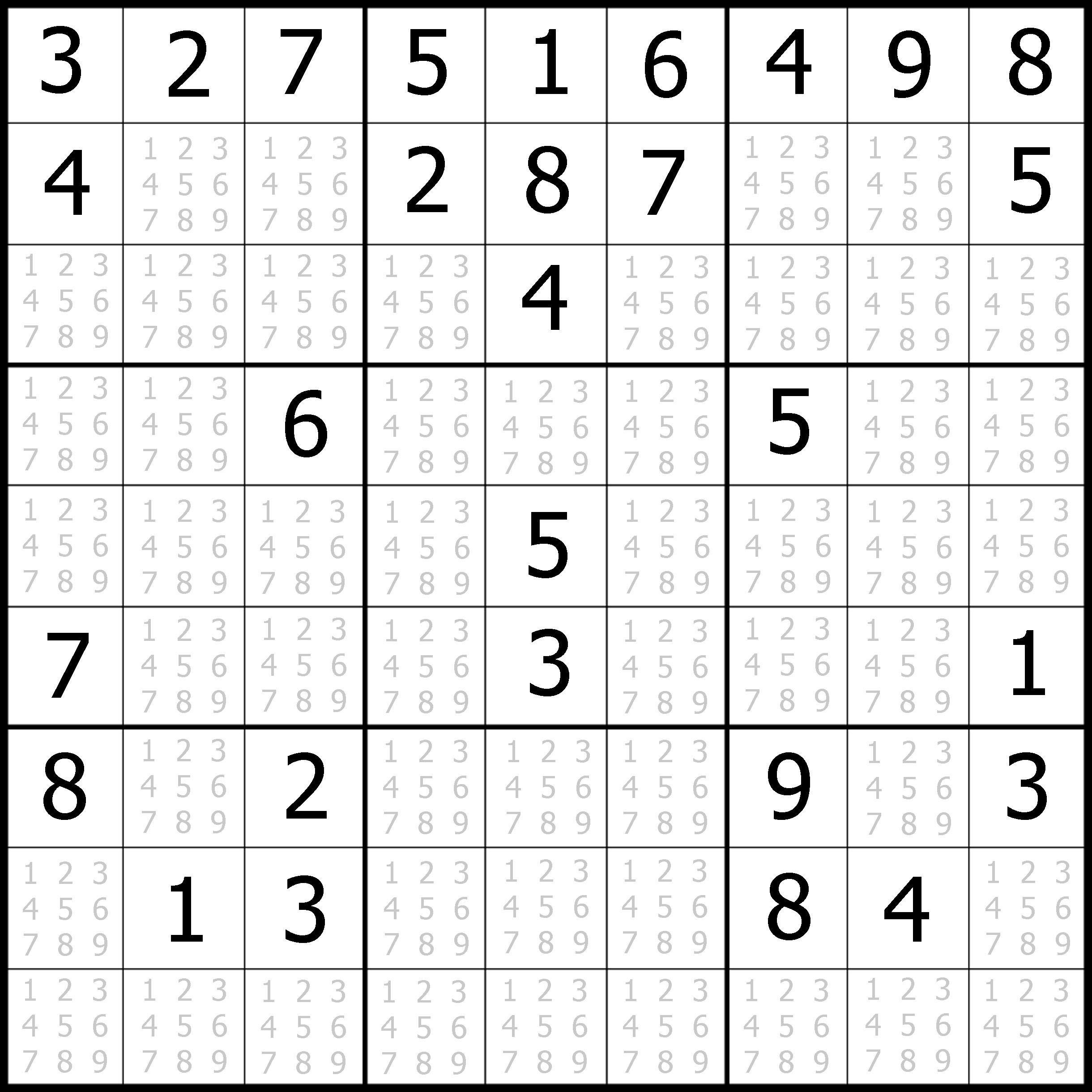 Sudoku Printable   Free, Medium, Printable Sudoku Puzzle #1   My - Free Printable Sudoku With Answers