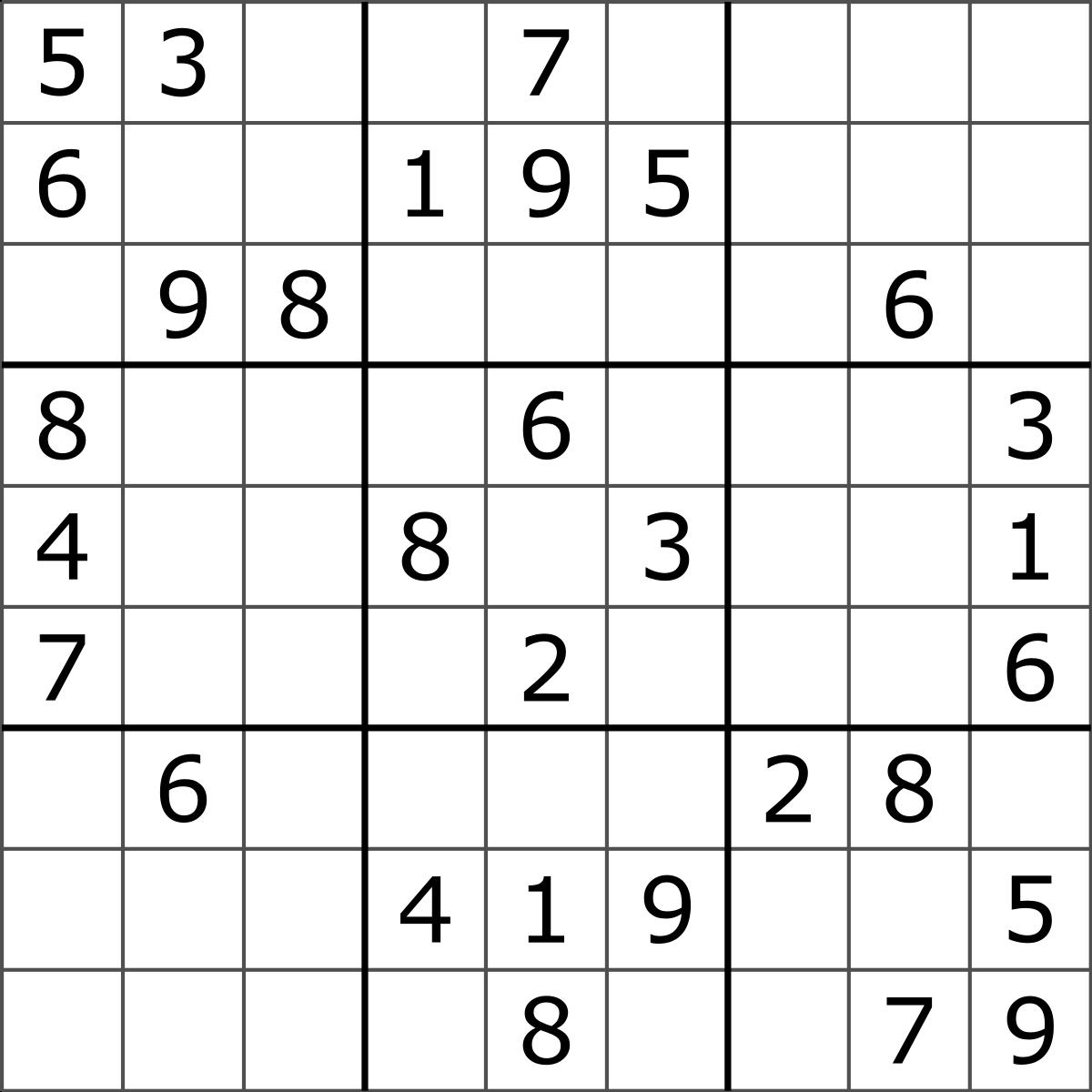 Sudoku - Wikipedia - Free Printable Sudoku