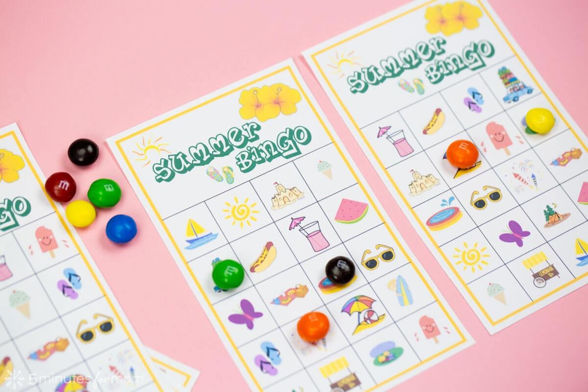 Summer Bingo Game With Free Printables - Free Printable Summer Games