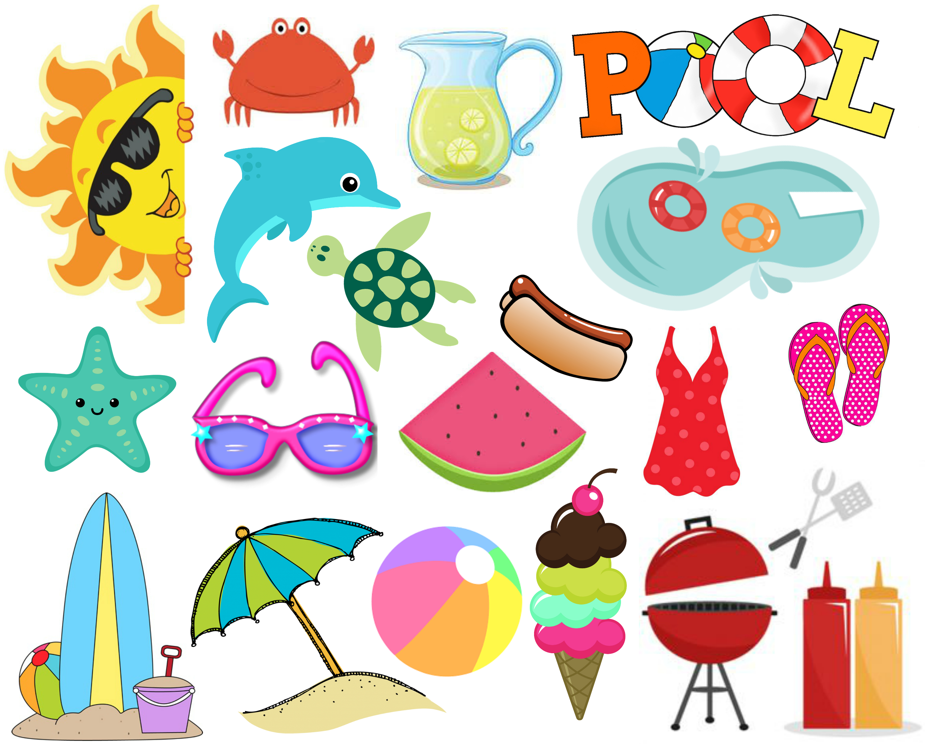 Summer Fun Clipart For Free – 101 Clip Art - Free Printable Summer Clip Art