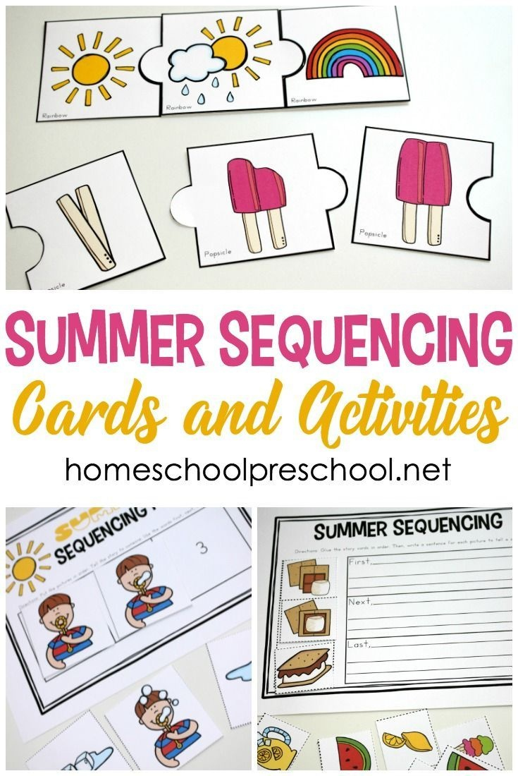 Summer Sequencing Cards For Preschoolers | Free Homeschool - Free Printable Sequencing Cards For Preschool