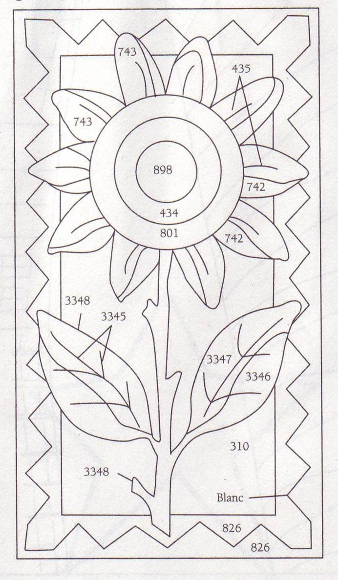 Summer Sunflower Punchneedle | Crafting | Punch Needle Patterns - Free Printable Punch Needle Patterns