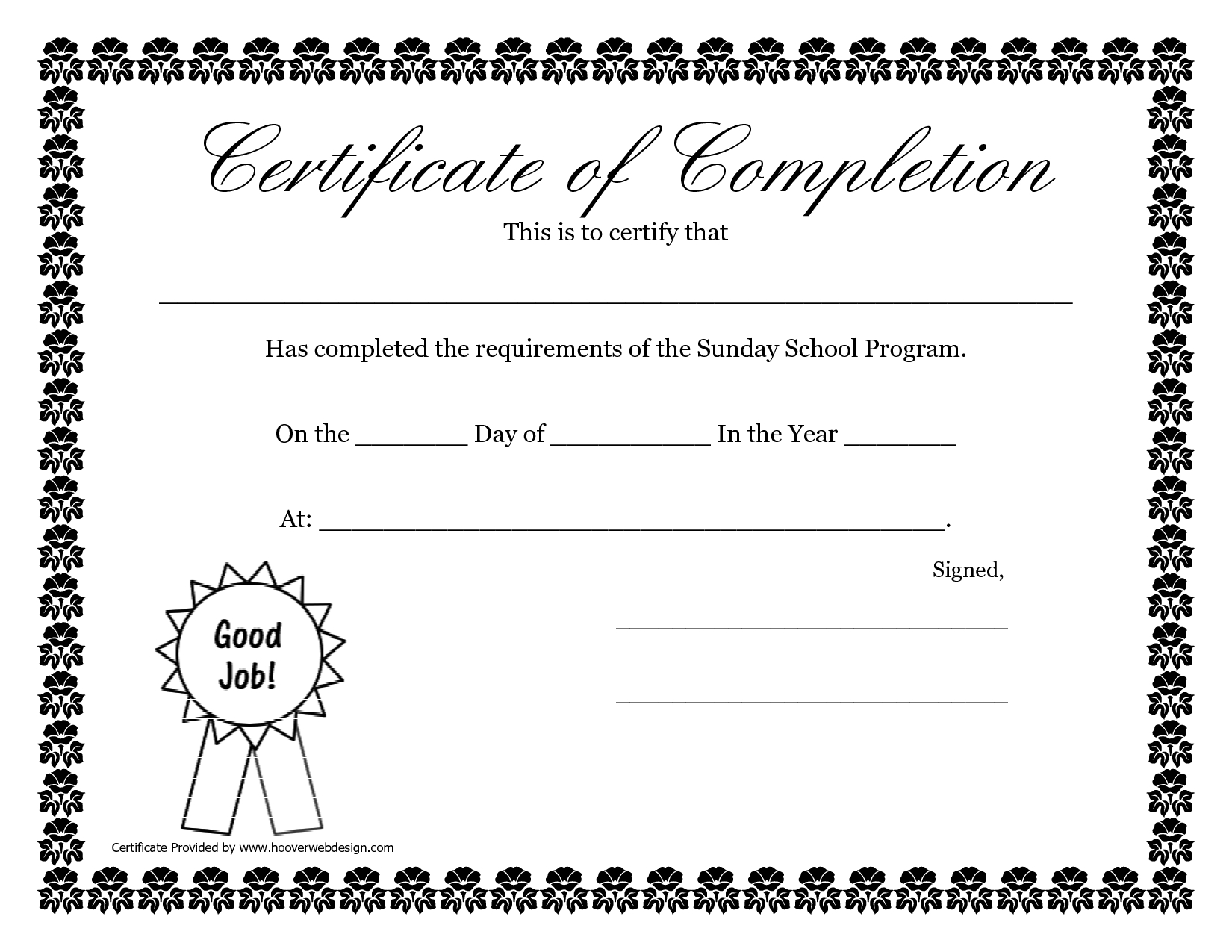 Sunday School Promotion Day Certificates   Sunday School Certificate - Free Printable School Certificates Templates