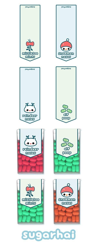 Super Cute Free Printable Holiday Tic Tac Labels Including Mistletoe - Free Printable Tic Tac Labels
