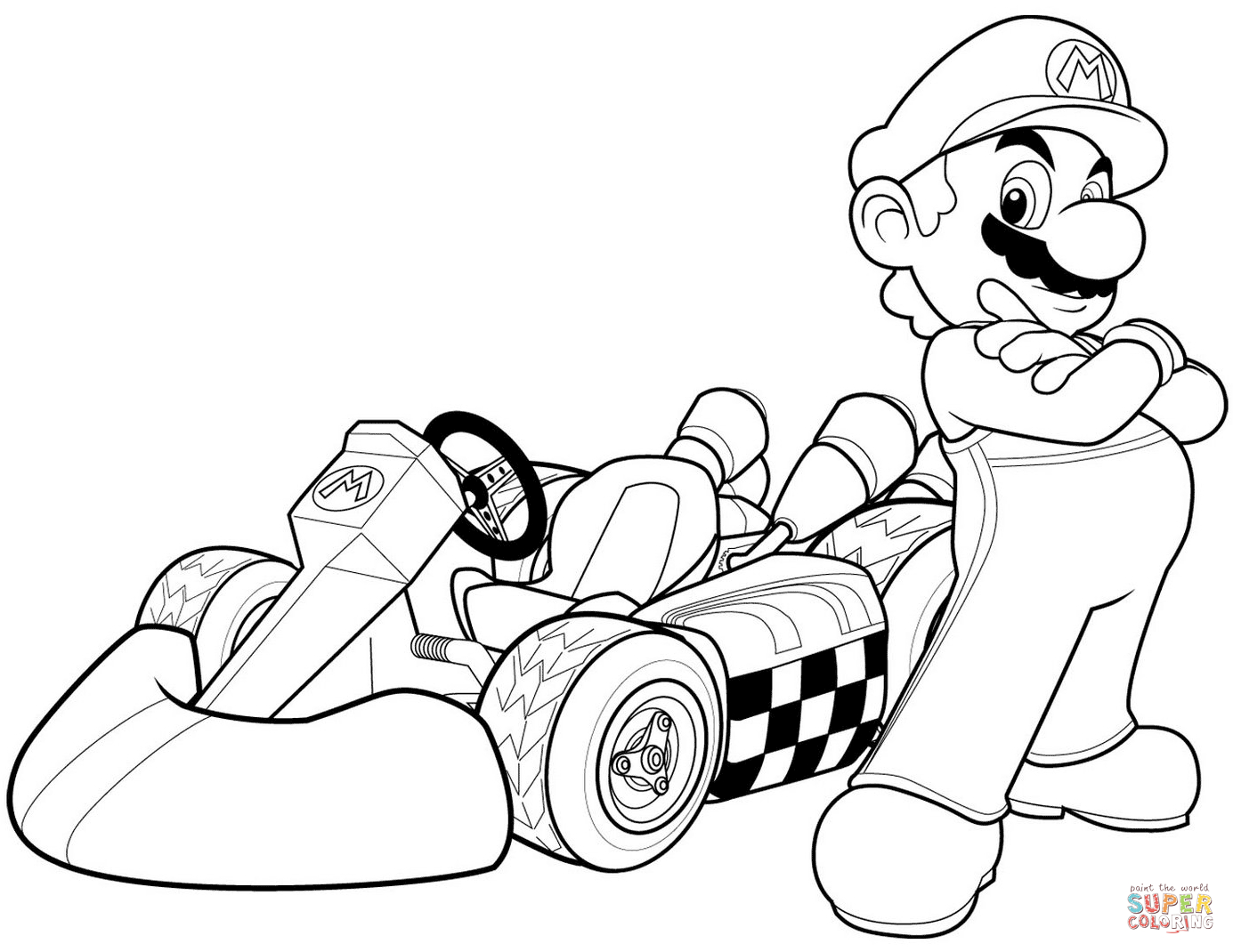 Super Mario Bros. Coloring Pages | Free Coloring Pages - Mario Coloring Pages Free Printable