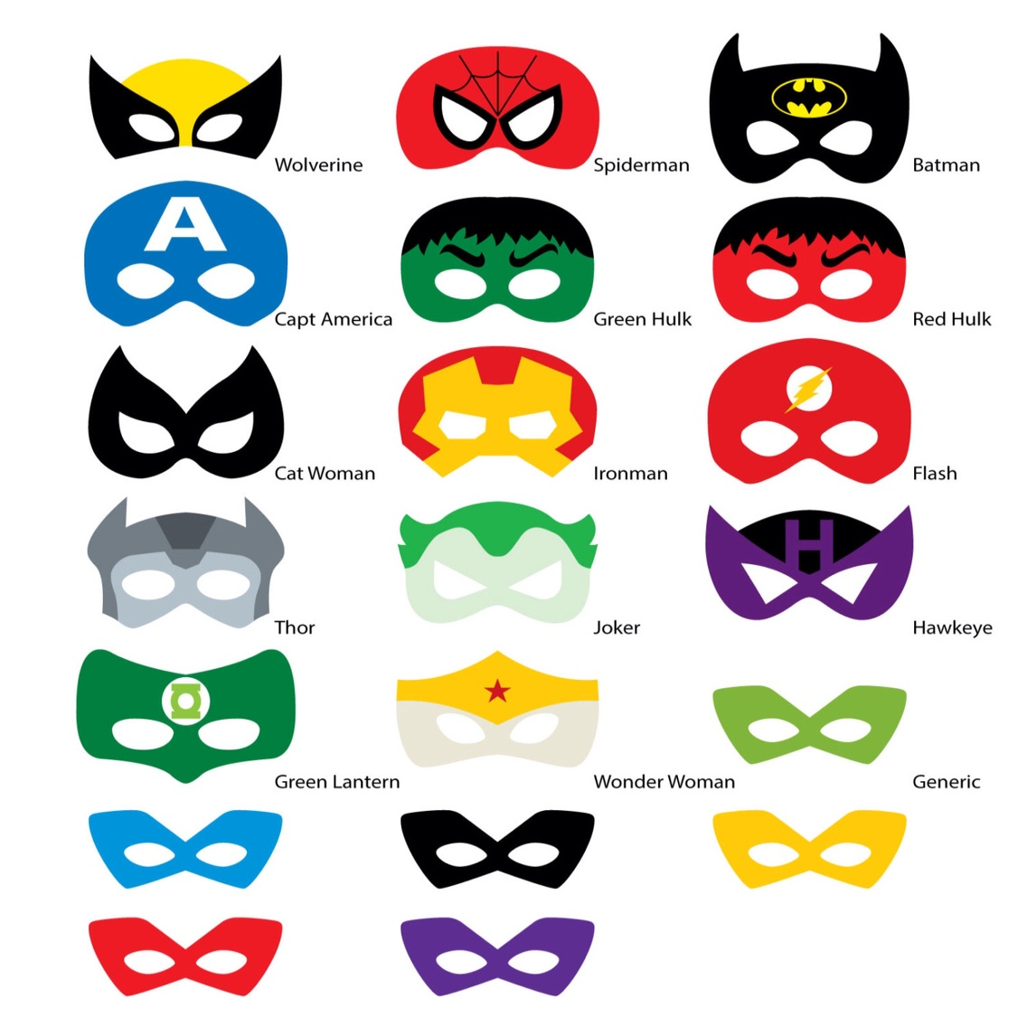 Superhero Mask Template | Free Download Best Superhero Mask Template - Free Printable Superhero Photo Booth Props