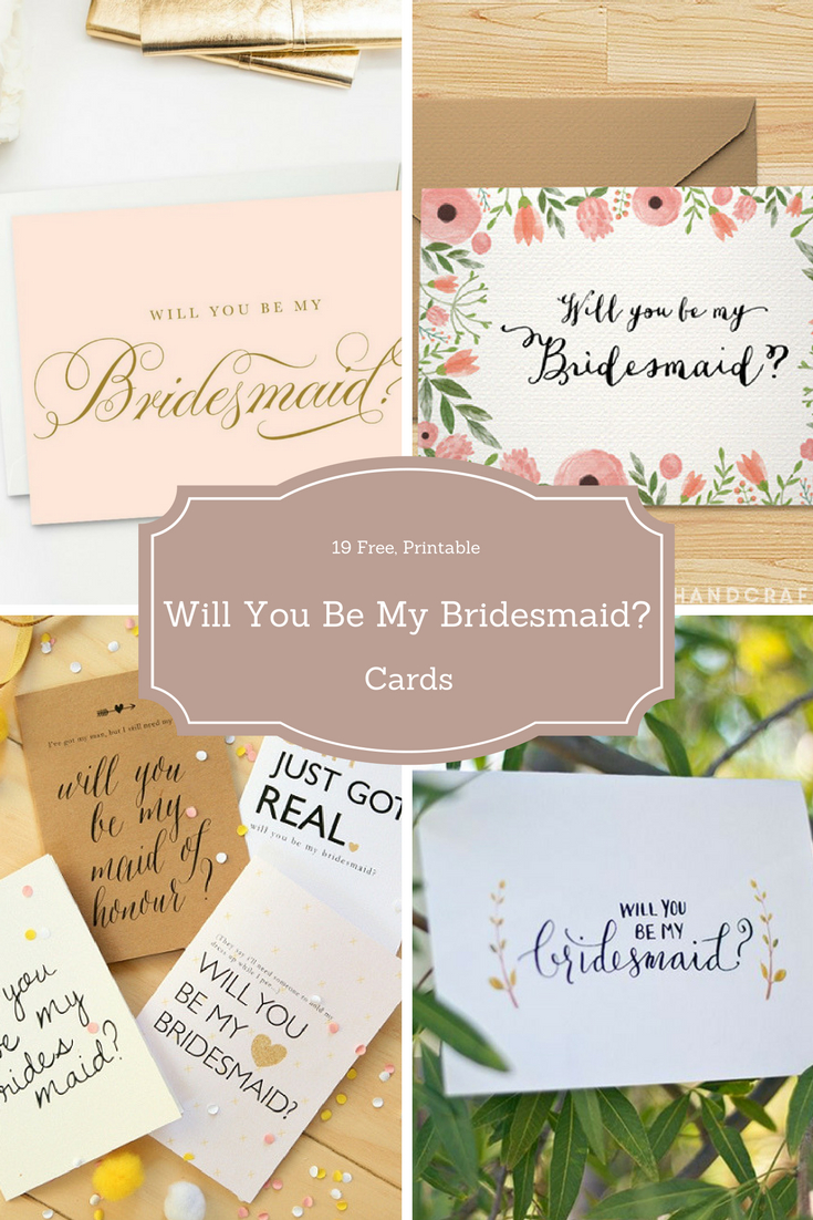 Surprise Your Friends With A Free Will You Be My Bridesmaid? Cards - Free Printable Will You Be My Bridesmaid Cards