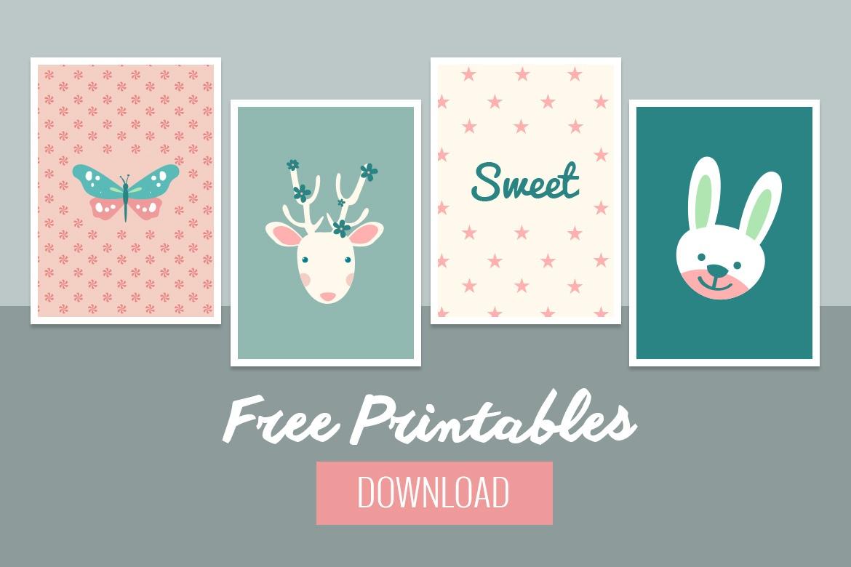 Sweet Baby Wall Decor - Free Printable - Belivindesign - Free Printable Decor