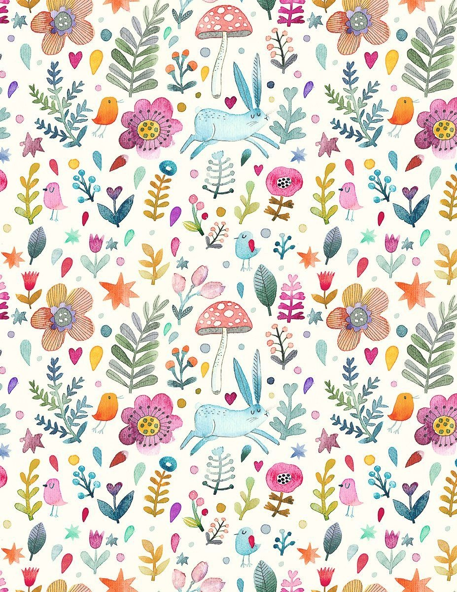 Sweet Watercolor Bunny Gift Wrap – Free Printable | Gift Wrapping - Free Printable Easter Wrapping Paper