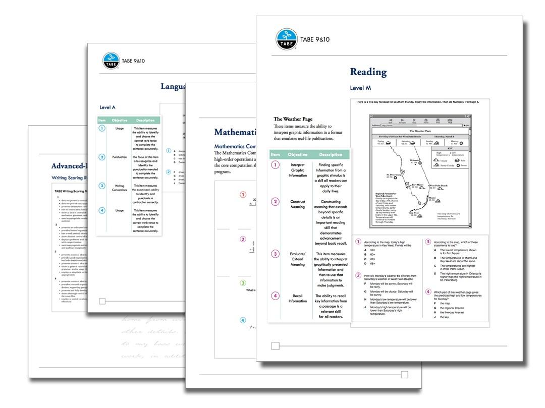 Tabe 9&10 Sample Practice Items | Tabetest | Tabetest - Tabe Practice Test Free Printable