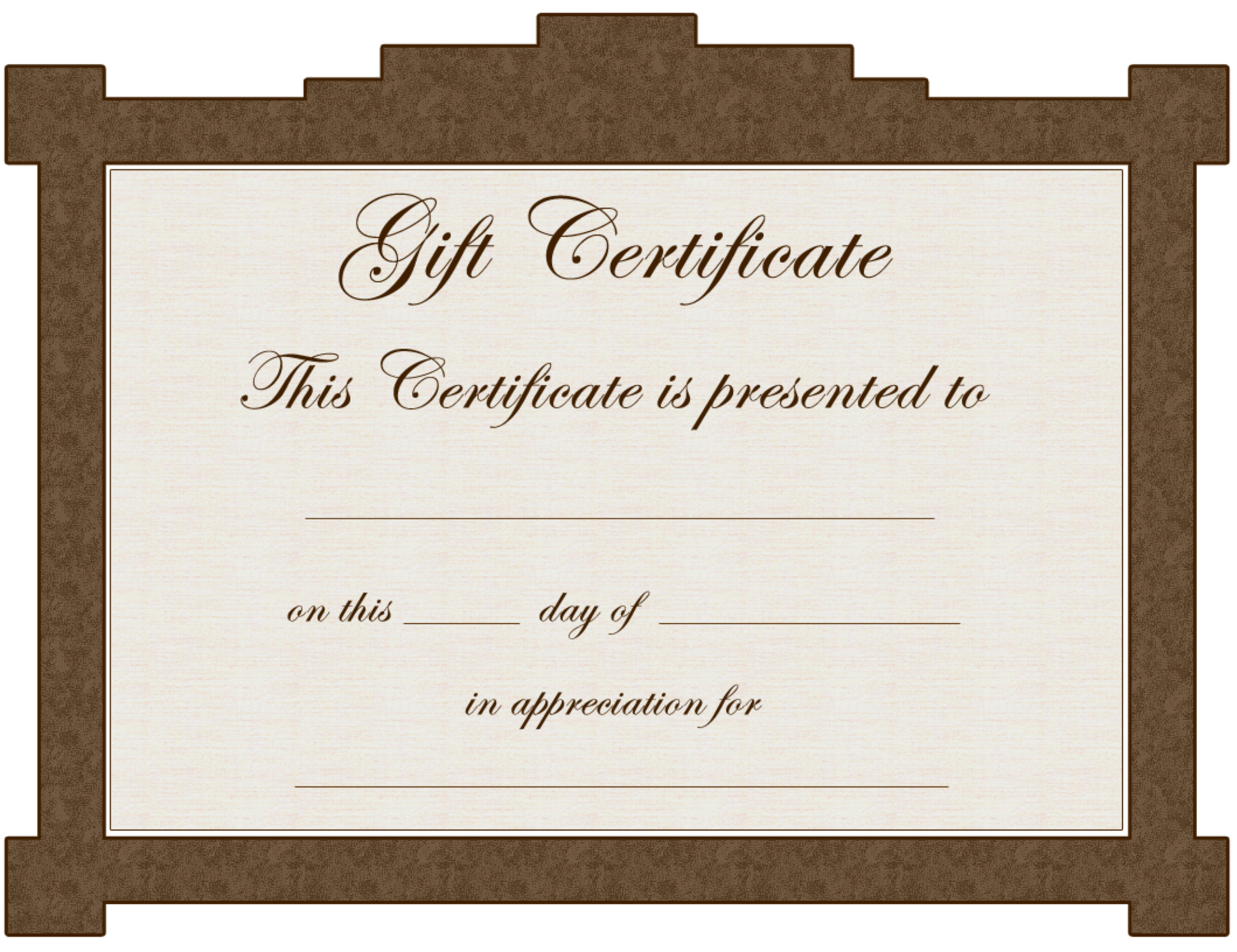 Tattoo Gift Certificate Template - Cliparts.co - Free Printable Tattoo Gift Certificates