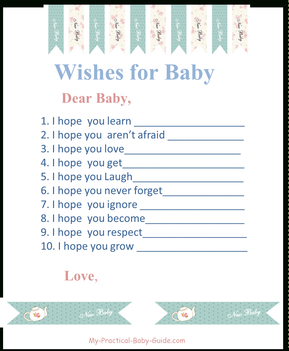 Tea Garden Party Baby Shower - My Practical Baby Shower Guide - Free Printable Tea Party Games