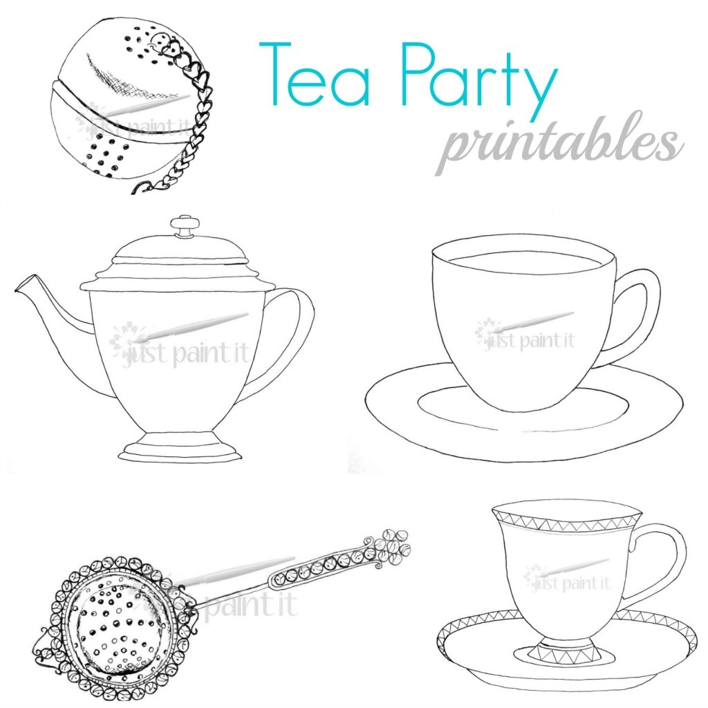 Tea Party Printables - Free Printable Tea Cup Coloring Pages