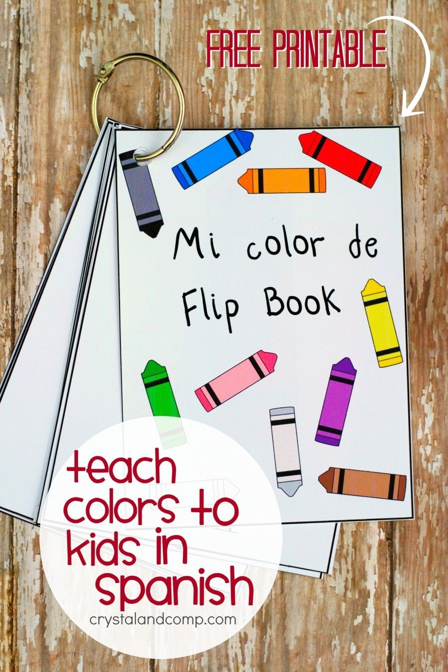 Teach Colors To Kids In Spanish Flip Book | All Things Parenting - Free Printable Spanish Books