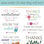 Teacher Appreciation Printables   Gifts Under $5!   Fun Cheap Or Free   Free Teacher Appreciation Week Printable Cards