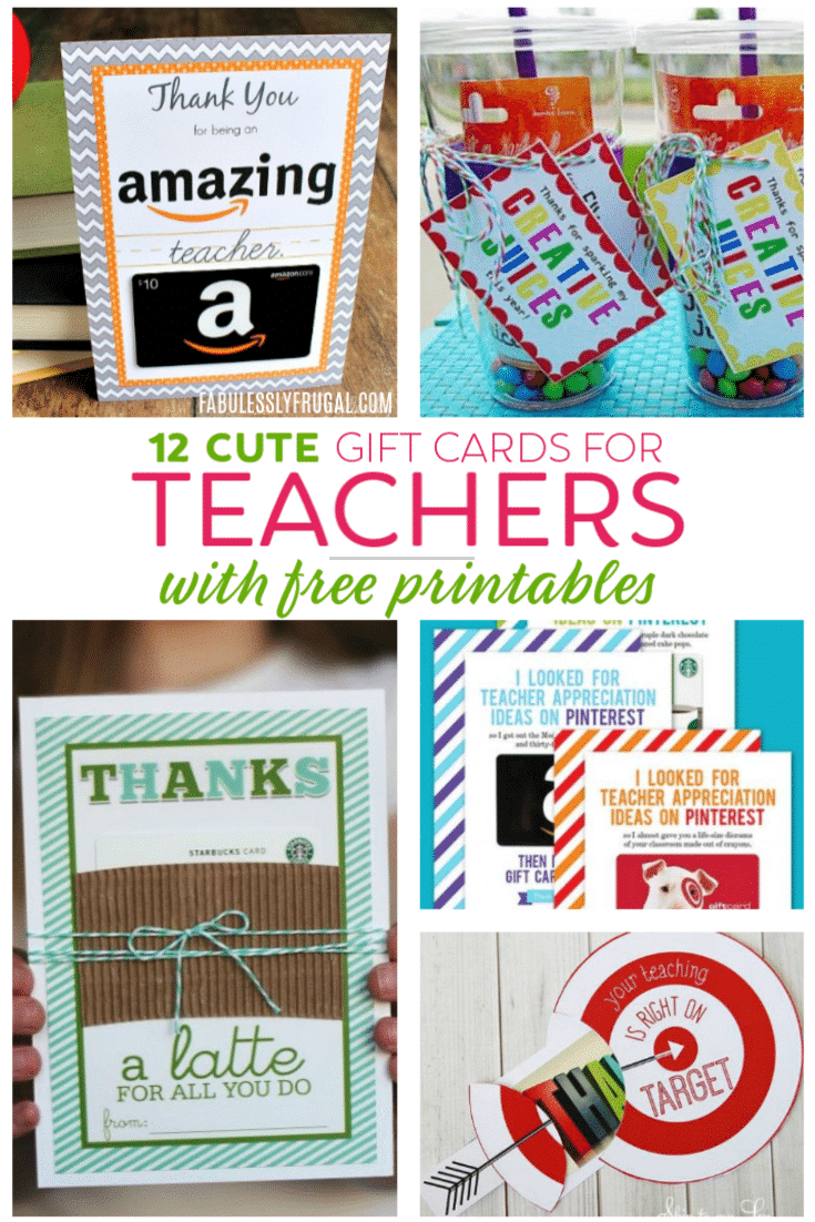 Teacher Gift Card Ideas & Gift Card Holder Printables - Fabulessly - Free Printable Volunteer Thank You Cards