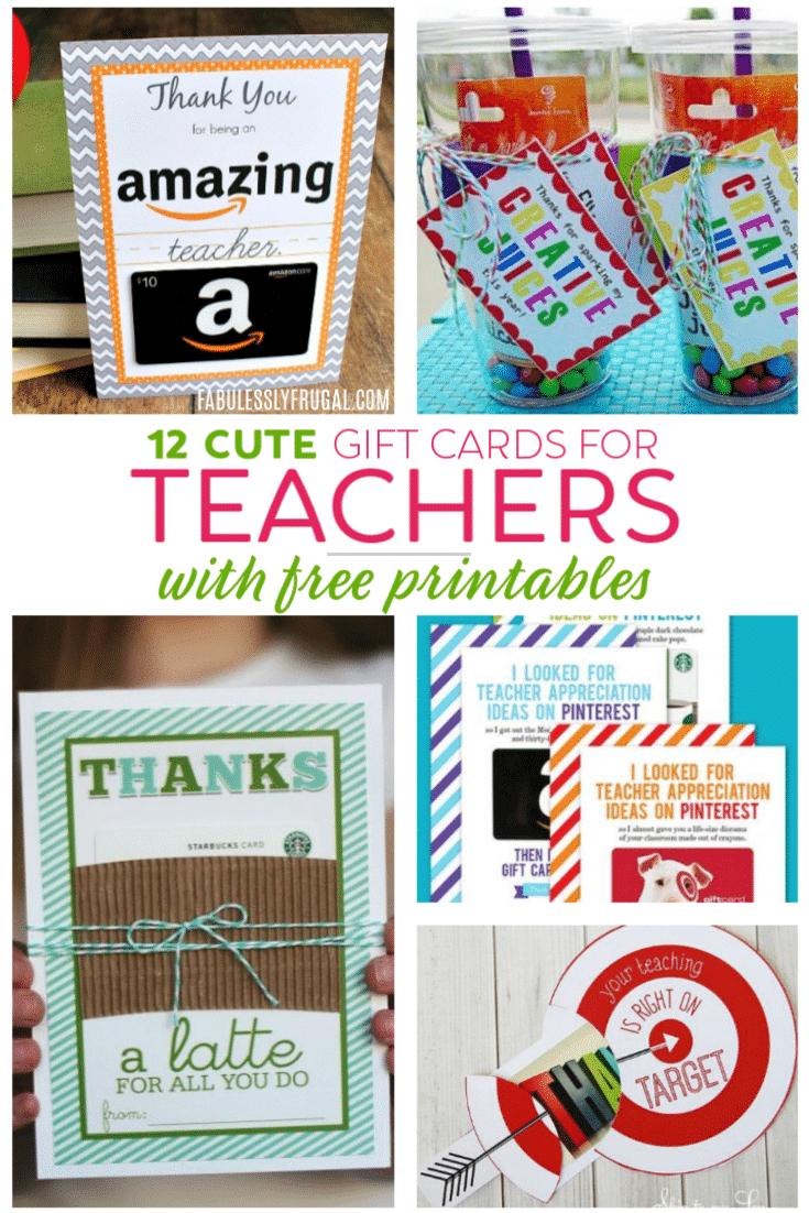 Teacher Gift Card Ideas & Gift Card Holder Printables - Fabulessly - Free Teacher Appreciation Week Printable Cards
